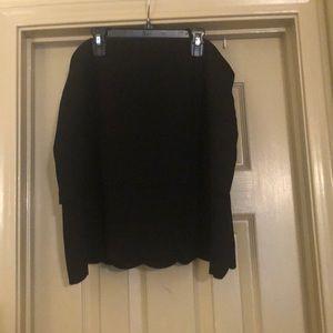 Black scalloped mini skirt from loft